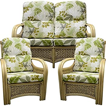 904fbb561b1b Gilda Cane Conservatory Wicker Rattan Furniture REPLACEMENT Covers Only for  SUITE (Sofa plus 2 Chairs) - Amazon pampas