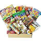 Japanische Süßigkeit Popin Cookin Dagashi Box 24pcs Umaibo Snack Gumi Kartoffel Chip Kitty Schokolade mit AKIBA KING Aufkleber
