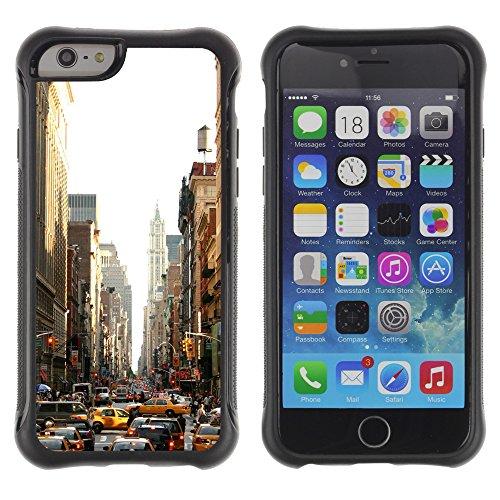 Graphic4You Brooklyn Bridge New York Postkarte Ansichtskarte Design Shockproof Anti-Rutsch Weichen Hülle Case Tasche Schutzhülle für Apple iPhone 6 Plus / 6S Plus Design #11