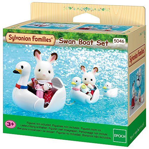 SYLVANIAN FAMILIES- Swan Boat Set Mini muñecas y Accesorios, (Epoch para Imaginar 5046)