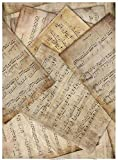 Reispapier A4 - Noten 2.. Motiv-Strohseide, Strohseidenpapier, Decoupage Papier