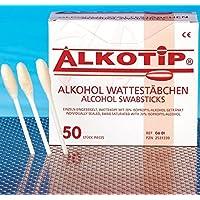 ALKOTIP Alkohol Wattestäbchen - 50 Stück einzeln eingesiegelt - Wattekopf mit 70% Isopropyl-alkohol getränkt┇Alcohol... preisvergleich bei billige-tabletten.eu
