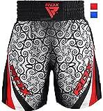 RDX Pantaloncini da Boxe Pugilato Sport Palestra Shorts MMA Muay Thai UFC Kick Boxing Sportivi