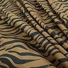 """Tela de algodón para acolchar 43 """"Wide leopardo de Brown india Tela de costura By The Yard"""
