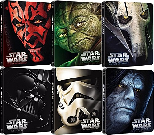 Star Wars Steelbook Blu-ray Set - The Complete Saga I-VI (1+2+3+4+5+6) (Star Wars Blu-ray Set)