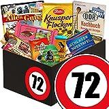 Geschenk zum 72. Geburtstag | Schokolade Geschenk | mit Zetti Schlager Süßtafel, Viba Schicht Nougat Stange und mehr | Schokoladen Box