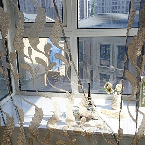 Ösenschal Farbverlauf in grau braun HxB 200x100 cm Voile transparent - Gardine Vorhang Dekoschal (1 Stück) Yonlanclot - Küche Terrasse Vorhänge