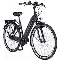 FISCHER E-Bike City CITA 3.1i, Elektrofahrrad, schwarz matt, 28 Zoll, RH 44 cm, Mittelmotor 50 Nm, 48 V/504 Wh Akku im…
