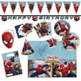 Procos 10108574B Kinderpartyset Ultimate Spiderman Web Warriors, Größe XL, 72 teilig