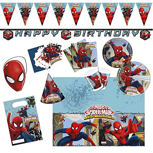 derpartyset Ultimate Spiderman Web Warriors, Größe XL, 72 teilig ()
