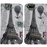 TienJueShi Eiffelturm Flip Book-Style Brief Leder Tasche Schutz Hulle Handy Case Abdeckung Fall Wallet Cover Etui Skin Fur RAZER PHONE RZ35-0215 5.7 inch