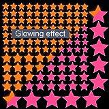 Orange Glow in the Dark Wand Luminous Aufkleber Star Aufkleber ADESIVO de parede Decor Home Dekoration für Kinder Zimmer Aufkleber Aufkleber