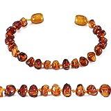 Cici's Story Ambre Bracelet - 4 Sizes - 5 Couleurs - 100% Plus Haute Qualite Certifie l'Ambre la Baltique Authentique Bracelet