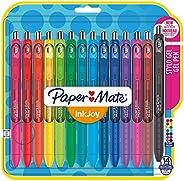 Paper Mate Inkjoy gelpen Middelgrote punt 14 Stuk Gesorteerde fun kleuren