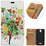 KM-WEN® Case for Wiko Jerry 2 (5 Inch) Book Style Fruit