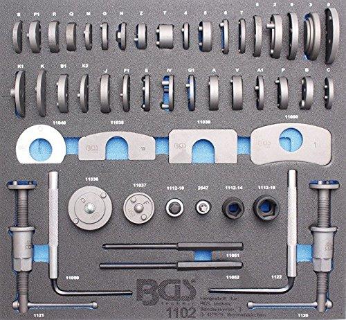 BGS 1102 2/3 Werkstattwageneinlage: Bremskolben-Rückstell-Satz, 50-Tlg