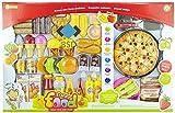 Lebensmittel Set für Spielküche 82tlg - Spiel-Lebensmittel - Kinderküche Zubehör - Kochzubehör - Küchenspielzeug