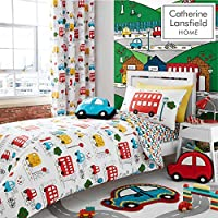 Catherine Lansfield Transport Easy Care Toddler Duvet Set Bright