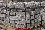 1,5 Tonnen Granit Mauersteine grau, 40x20x10 cm, grob gespalten
