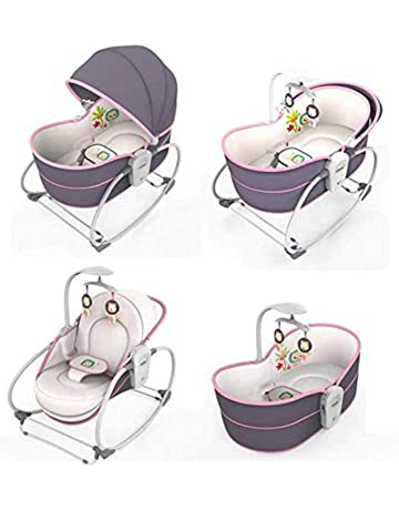 Mastela 5 in 1 Baby Bassinet Rocker Rocking Napper, Bounce, Chair with Removable Baby Bassinet & Melody (Multi Color)