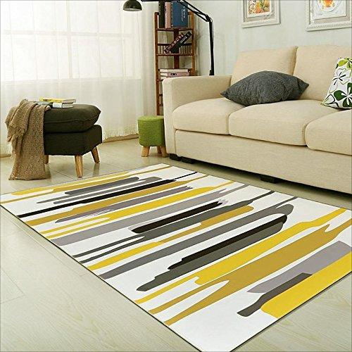 LILY Akryl-haltbarer Teppich, stilvoller karierter Samt-Anti-Milben-Teppich, Schlafzimmer-Wohnzimmer-Couchtisch-Sofa-Teppich ( Color : A , Größe : 80x120cm ) Outdoor-läufer Teppich 2 X 14