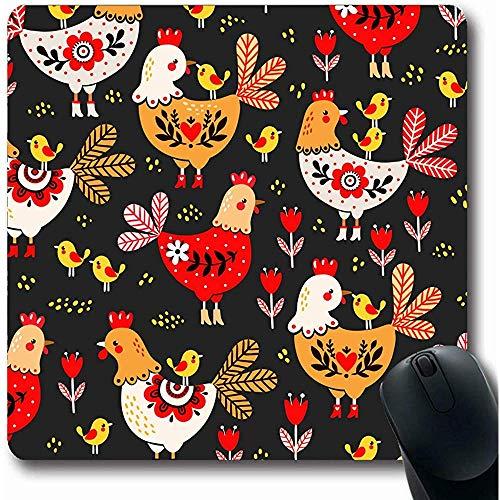Mauspads Red Folk Rooster Coop Hühner Hühner