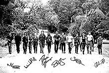 Impresión A4, foto firmada del elenco de