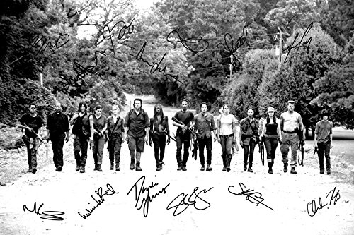 The Walking Dead Cast X14 Signiertes Foto, Druck, N.O 3 – Super Qualität – 30,5 x 20,3 cm (A4) Bilder Von The Walking Dead Cast