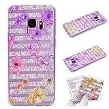 HengJun Für Samsung Galaxy S9 Plus Handyhülle, Transparentes Totem TPU Gel Silikonhülle für Smartphone Samsung Galaxy S9 Plus - Farbige Blume