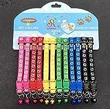 Egurs 12 stücke Hundehalsband mit Glocke Hund Fußdruckmuster Einstellbare Katzenhalsband für Katze Welpen 1#