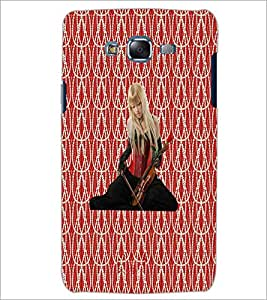PrintDhaba Violin Girl D-5654 Back Case Cover for SAMSUNG GALAXY J7 (Multi-Coloured)