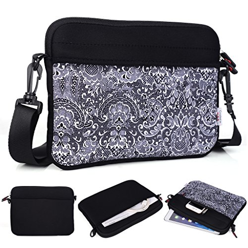 kroo-tablet-laptop-sleeve-custodia-con-tracolla-per-karbonn-a37-nero-black