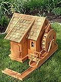 Wassermühle groß mit farbigen Dachziegeln,Wasserrad und Ablauf XXL
