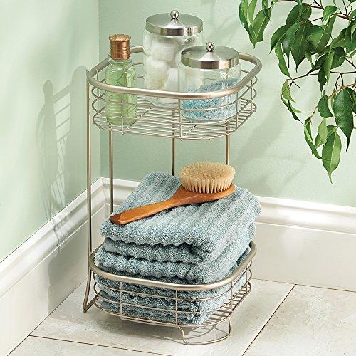 mDesign mensola bagno - ideale portashampoo, portasciugamani, accessorio per bagno