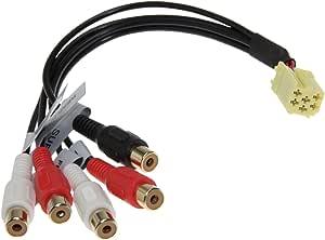 Line Out 5 X Cinch Adapter Subwoofer Radio Für Viele Fahrzeuge In Top Qualität Auto