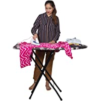 "Parasnath Heavy Folding Large Ironing Board Table 18"" X 48"" (Colour May Vary, Multi-Color) Lifetime Warranty Made in India"