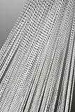 Fadenvorhang Fadengardine mit Lurex veredelt Metallic Effekt Gardine Vorhang weiß 140x250 cm