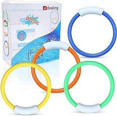 edealing B01M7MNBG7 (TM) 4 X Unterwasser Schwimmen Tauchen Sinken Pool Spielzeug Ringe Kinder