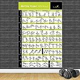 yhyxll Bodybuilding Palestra Sport Fitness Manubri Poster Kettlebell Allenamento Esercizio Allenamento Grafico Art Wall Poster Stampa Home Decor E 60X80 cm