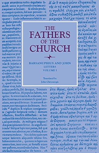 Letters, Volume 1 (Fathers of the Church: A New Translation (Patristic Series))