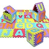 Schramm® Puzzlematte 86- teilig inclusive Tragetasche Puzzle Matte Spielteppich Kinderspielteppich Schaumstoffmatte Matten Spielmatte Teppich Spiele Matte Matten