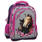 Cheval Blanc grand sac a dos cartable école loisirs extrascolaires Horses Pony Poney