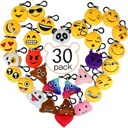 Aiduy Mini Emoji Llavero Emoji encantadora