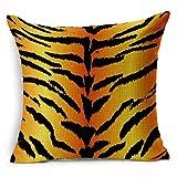 gintan Baumwolle Leinen Animal Streifen Print Überwurf Kissenbezug 45,7x 45,7cm 5