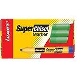 Luxor 997 Super Chisel Marker - Apple Green - Box of 10