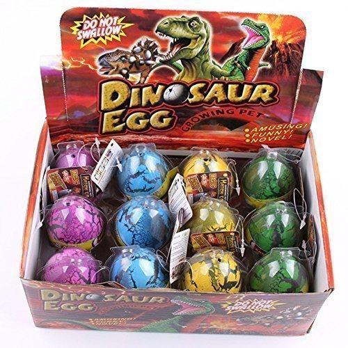 HXSS Emulational Dinosaurier Drache Ei Hatch-Grow Große Big Size Pack von 12 (Hund Ballon Kostüm)