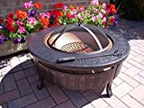 AmbienceOutdoors Round Patio Fire Pit Decking Firepit Garden Heater Table Brazier