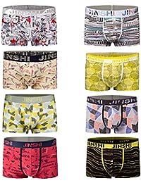 JINSHI Mens Underwear Boxers Gift Bamboo Novelty Boxer Shorts