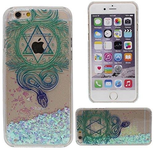 """Custodia Case per iPhone 6S Plus / 6 Plus 5.5"""", Liquido Stile Molti Love-Heart fluente / Indiano Religione Stile Stampato Modello ( Serpente ) Duro PC Trasparente Cover"""