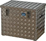 ALUTEC Alu-Transportkiste Riffelblech - 120 l Inhalt - LxBxH 622 x 425 x 520 mm - Alu-Box Alu-Kiste Alu-Transportbox Alu-Transportkiste Kiste für Pritsche Kisten für Pritsche Pritschenbox Pritschenboxen Transportbox Transportbox für Pritsche Transportboxen